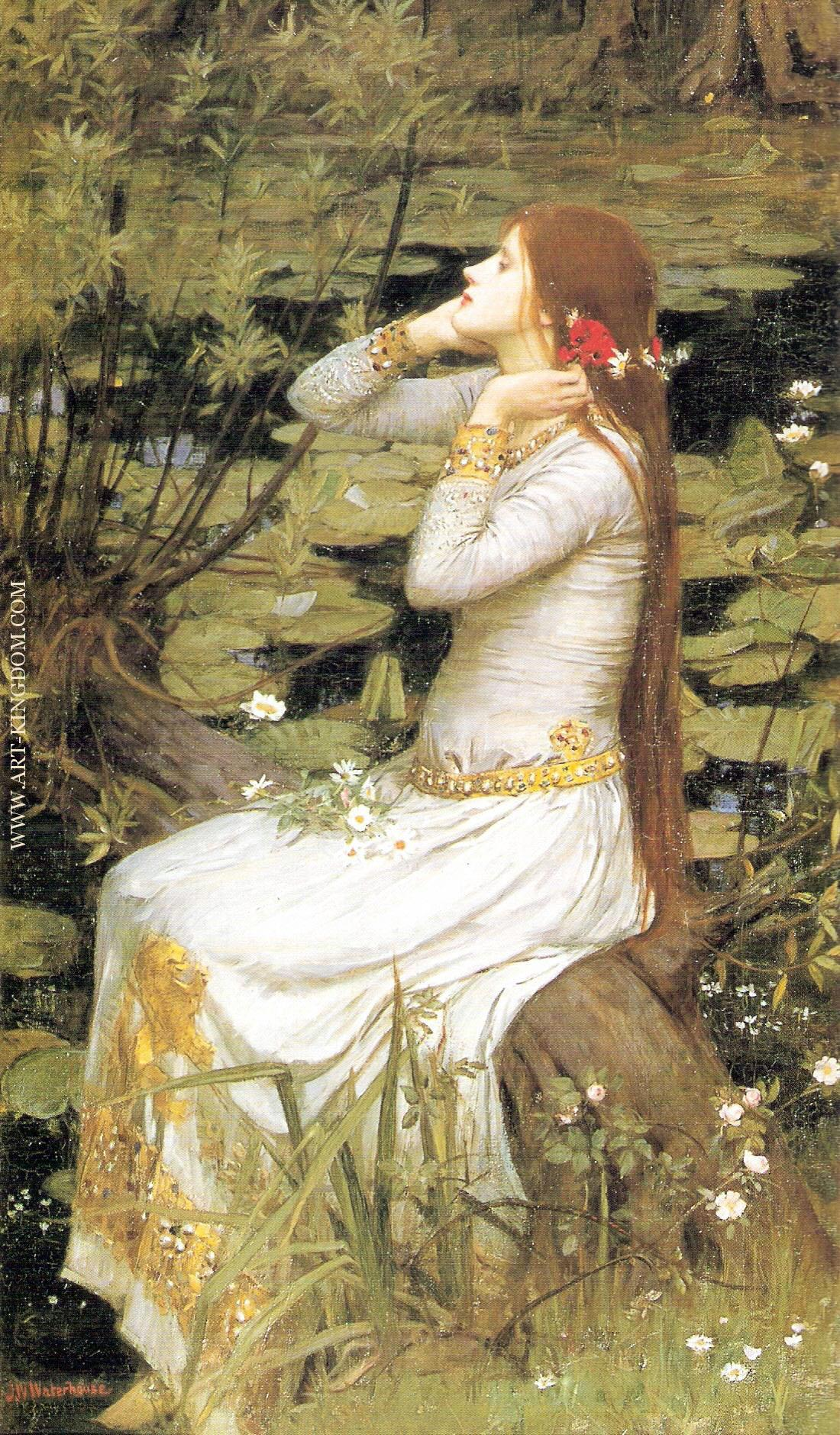 Dolce Far Niente by English John William Waterhouse People Repro on Canvas