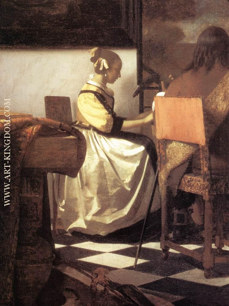the love letter johannes vermeer paintings reproduction and original art 1665